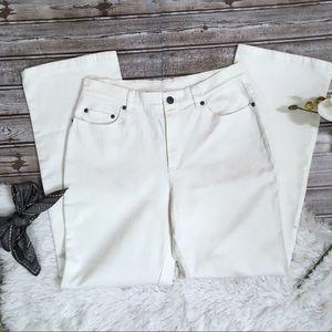 TALBOTS Petite White Stretch Pants Size 8